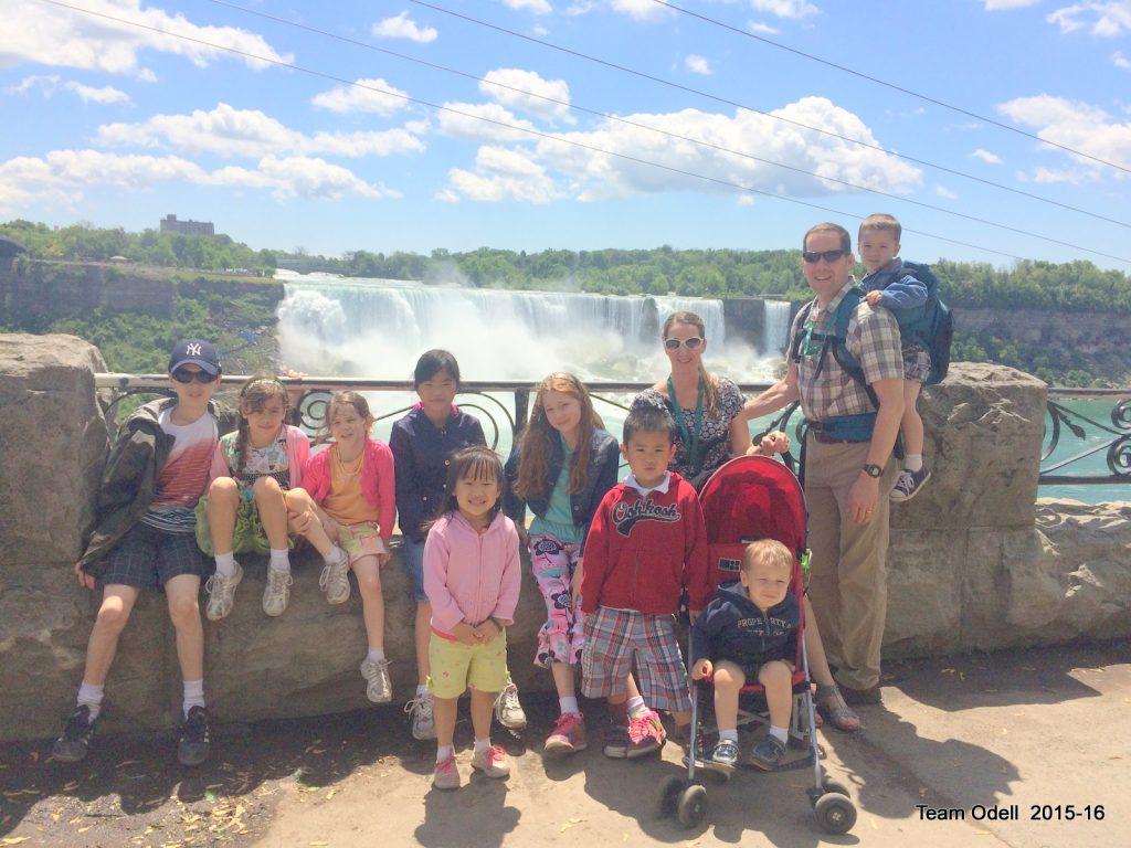 The family at Niagara Falls 2016