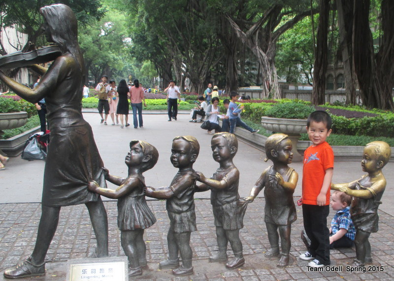 This island used to be where all of the adoptions were finalized.  Hence, the statues.
