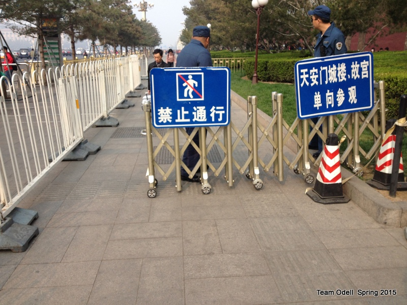 No falling allowed in China.