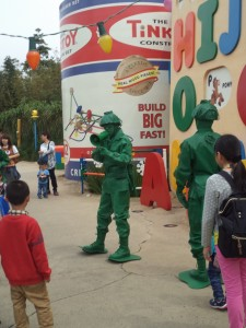 Toy Story Land.  The combination of Chinese and broken English spoken by these guys was riotous.