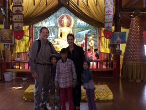 """This is an unauthorized photo.  It went well with my statement to the guide that """"Buddha ditched his wife and kids."""" She is Buddhist."""